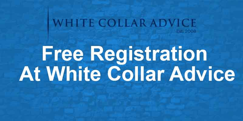 Free Registration At White Collar Advice