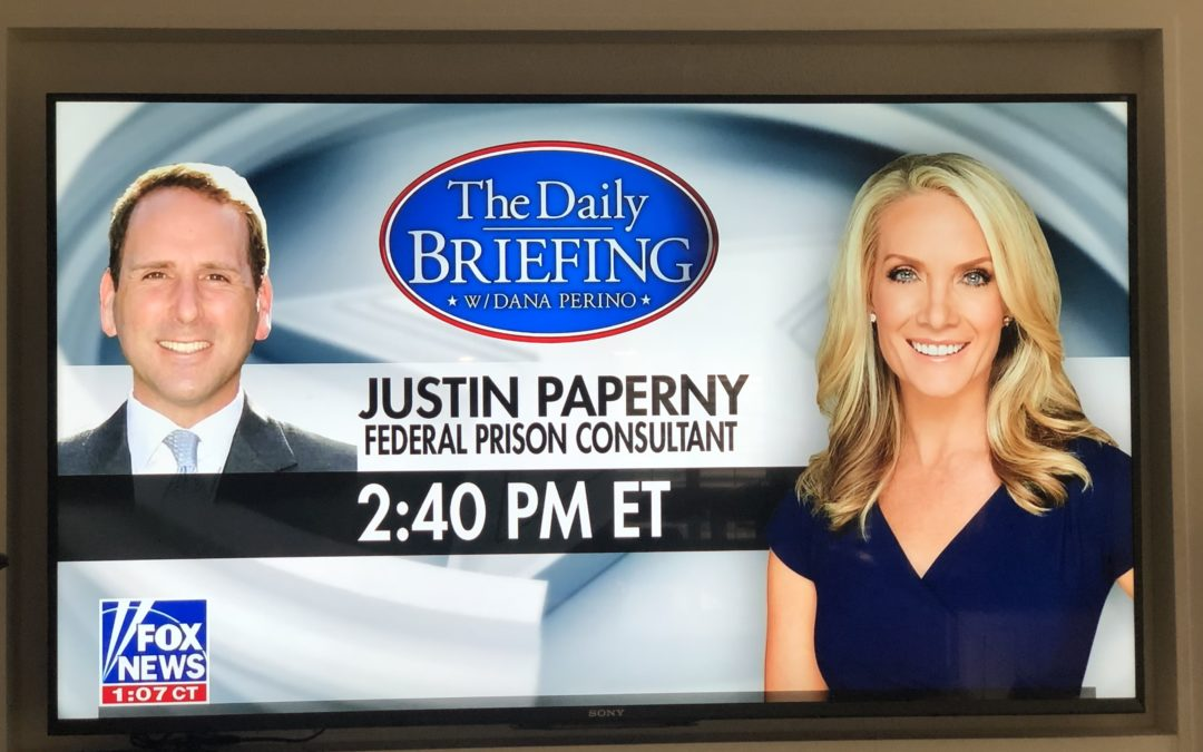Justin Paperny, Federal Prison Consultant, Joins Dana Perino on Fox News